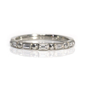 Baguette Diamond Half Eternity Ring