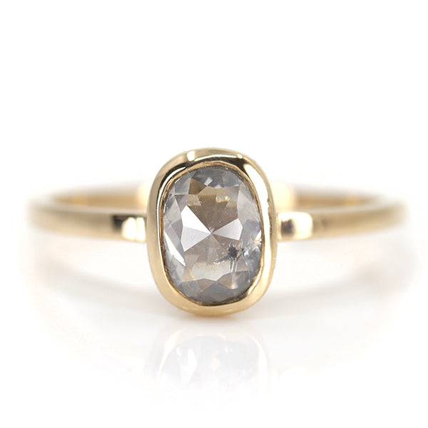 Cushion Rose Cut Solitaire