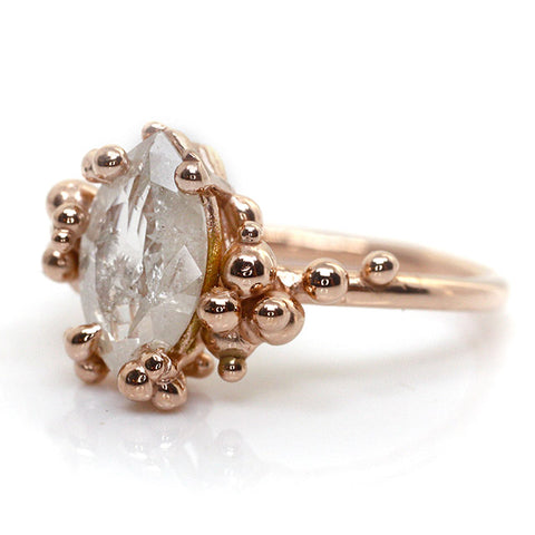 Milky Marquise Diamond Baleal Ring
