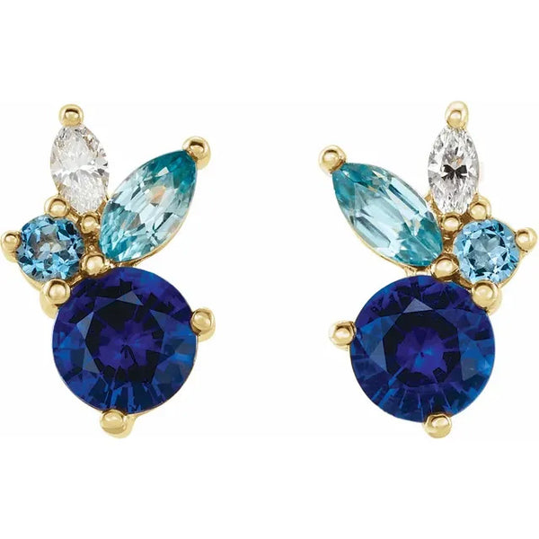 Azul Cluster Earrings