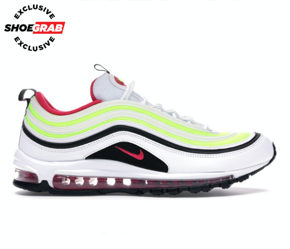*SG EXCLUSIVE* Nike Air Max 97 Men's (White/Volt/Pink Rush)