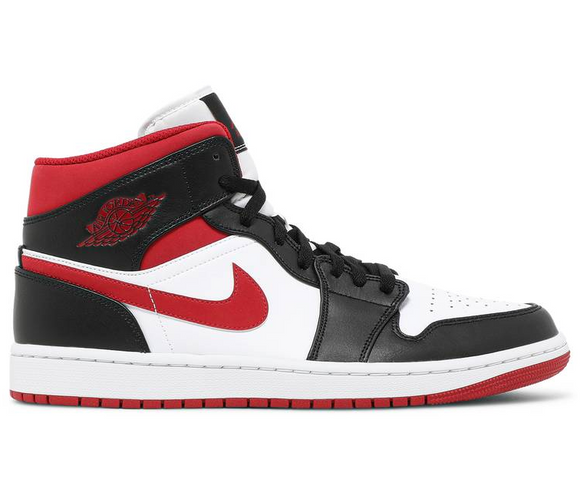 Air Jordan 1 Mid GS (Black/Gym Red)