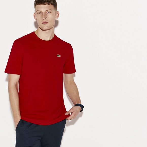 LACOSTE ESSENTIALS CREW NECK SPORT TEE RED TH7618240