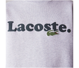 LACOSTE WORDING CREW NECK SWEAT SILVER SH2173CCA