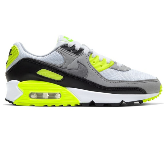 Women's Nike Air Max 90 (White/Volt)