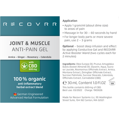 Recovrr System: Anti-Pain with CBD Starter Kit - Recovrr LLC