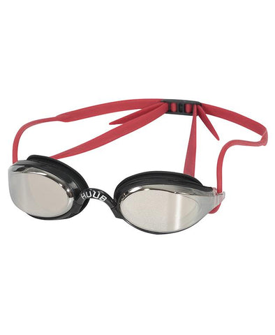 HUUB Brownlee Swim Goggle - Black/Red with Light Smoke Mirror Lens
