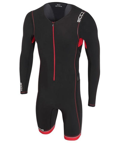 HUUB Core Full Sleeve Triathlon Suit - Mens Black/Red