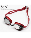 HUUB Varga Race Goggle - Red with Silver Mirror