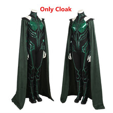 Load image into Gallery viewer, Halloween Thor Ragnarok Hela Cosplay Costume Outfit Jumpsuit Cloak Boots Shoes