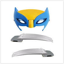 Load image into Gallery viewer, 25cm X-men Wolverine claws Anime ABS Action Figure Toys & Wolverine LED Mask Cosplay For Kids Gift