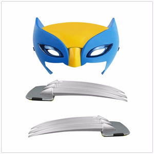 25cm X-men Wolverine claws Anime ABS Action Figure Toys & Wolverine LED Mask Cosplay For Kids Gift