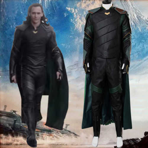 Thor 3 Ragnarok Loki Laufeyson Cosplay Costume Tom Hiddleston Halloween Carnival Cosplay Costumes