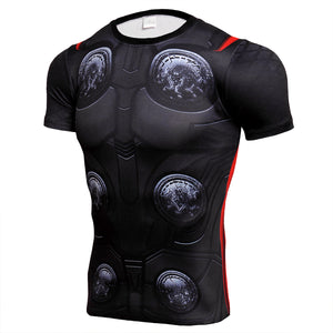The Avengers THOR 3D T shirts Men Compression Short Sleeve Fitness t-Shirt