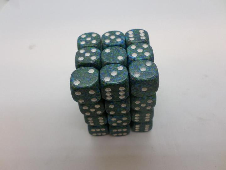 36 x d6 Speckled Sea