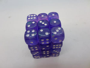 36 x d6 Borealis Purple/white