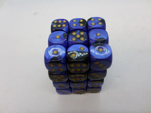 36 x d6 Gemini Black-Blue/gold