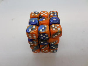 36 x d6 Gemini Blue-Orange/white