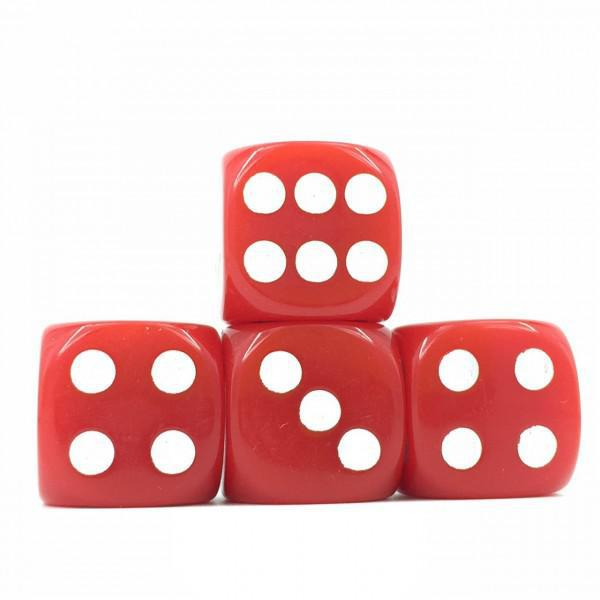12 x Opaque Red d6 with White pips