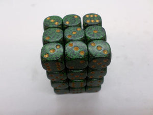 36 x d6 Speckled Golden Recon
