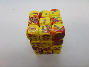 36 x d6 Gemini Red-Yellow/silver
