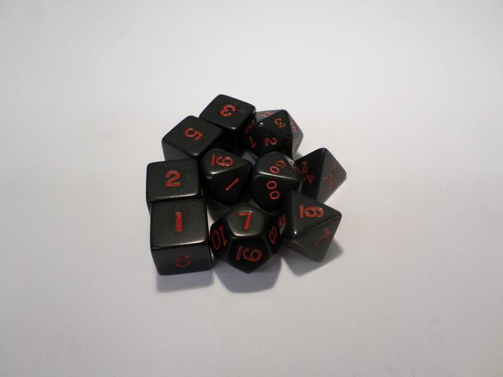 Opaque Black/red