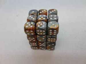 36 x d6 Gemini Copper-Steel/white