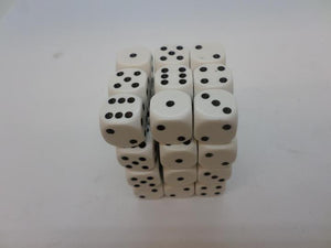 36 x d6 Opaque White/Black