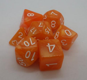 Pearl Orange with White font