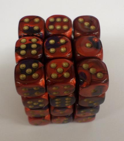 36 x d6 Gemini Purple-Red/gold