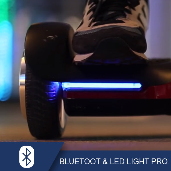 spadger hoverboard bluetooth and light