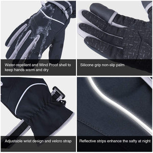 -30℉ Winter Anti-Slip Windproof Waterproof Ice Fishing Gloves, 3M Thinsulate Warm Touch Screen Finger - GOTURE