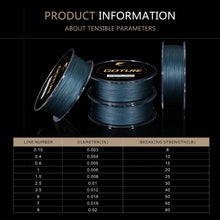 Load image into Gallery viewer, 300/500M 4 Strands PE Braided Fishing Line - GOTURE