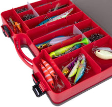 Load image into Gallery viewer, Double-Sided 44 Removable Compartments Plastic Fishing Tackle Box with Handle - GOTURE