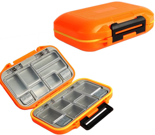 Small Waterproof Fishing Tackle Box Mini Plastic Lure Storage Boxes Vest Accessories, Large Containers - GOTURE