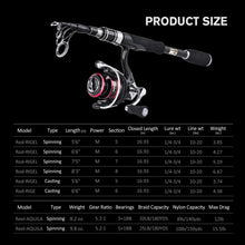 Load image into Gallery viewer, Rigel Extremely Strong Telescopic Travel Fishing Rods Set, Sensitive Graphite Composite Blank Construction - GOTURE