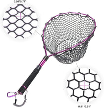 Load image into Gallery viewer, GOTURE Aluminum Alloy Magnetic Clip Soft Rubber Mesh Fly Fishing Landing Net