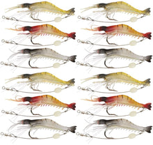 Load image into Gallery viewer, GOTURE Soft Lures Luminous Shrimp Bait Set for Trout Bass Salmon, Freshwater/Saltwater