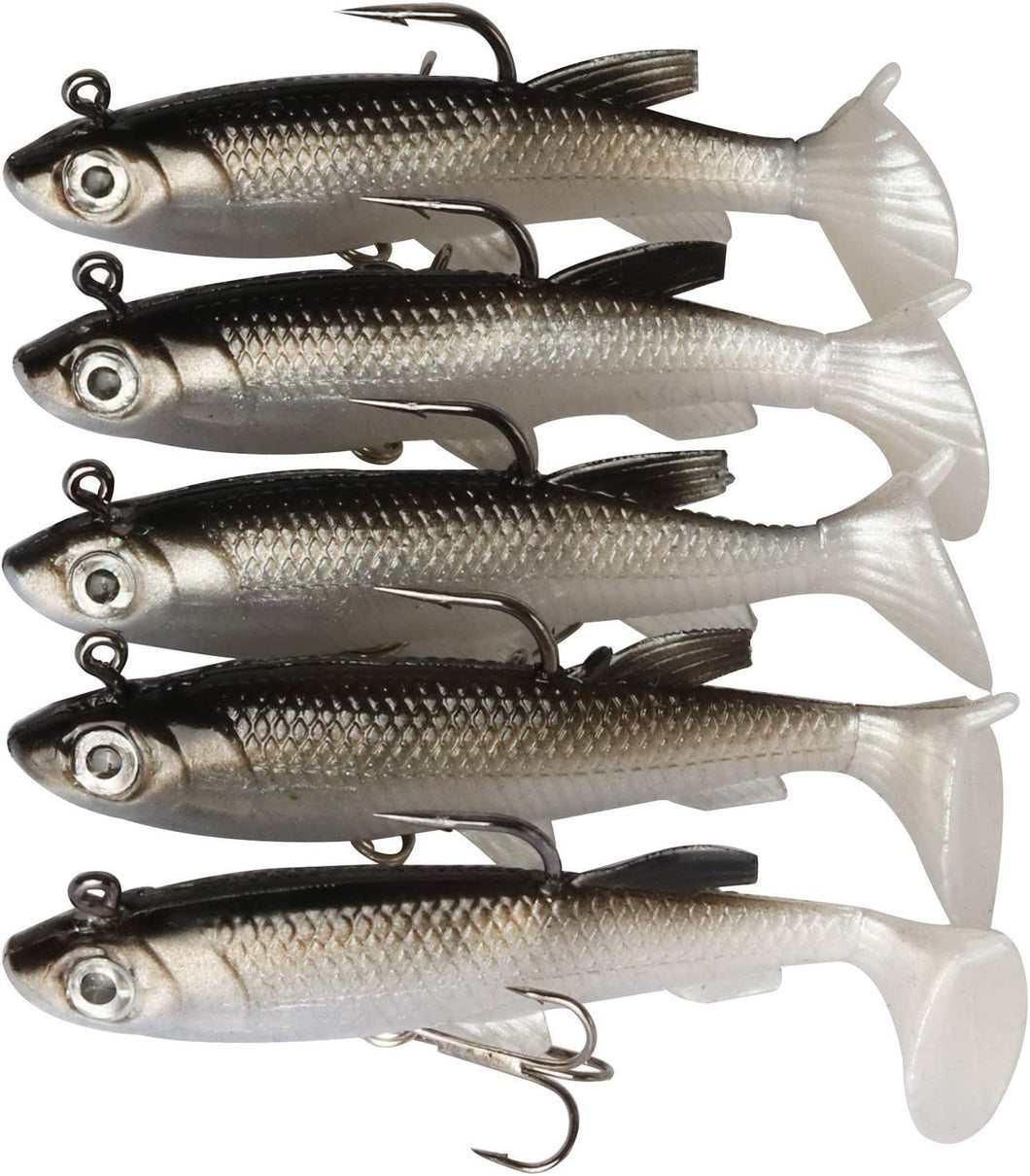 5PCS Lead Jigs Sinking Swimbaits Soft Fishing Lures for Saltwater and Freshwater-GOTURE