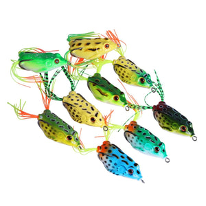 9-PC Frog Fishing Lure, Soft Plastic, Top Water - GOTURE