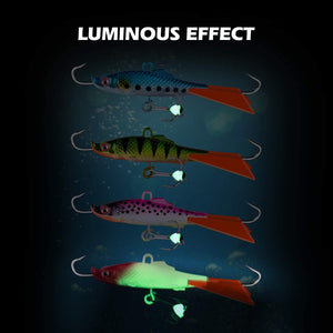 Balanced Ice Fishing Jigs Kit, Luminous Effect - GOTURE