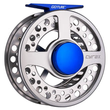 Load image into Gallery viewer, Cyrax Aluminum Fly Fishing Reel, CNC-machined, Large Arbor - GOTURE