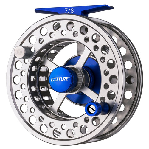 Cyrax Aluminum Fly Fishing Reel, CNC-machined, Large Arbor - GOTURE