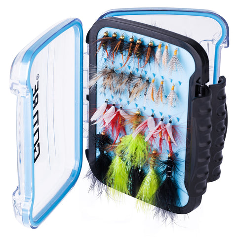 Fly Fishing Flies with Waterproof Box