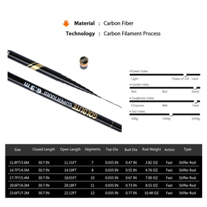 Goldlite Stream Fishing Rod, Carbon Fiber, Telescopic - GOTURE