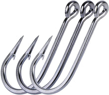 Load image into Gallery viewer, Long Shank Stainless Steel Fishing Hooks, Pack of 10 - GOTURE