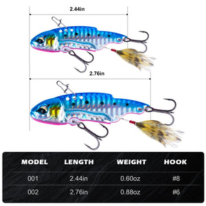 Metal VIB Hard Jigging Fishing Spoon Lures Set - GOTURE