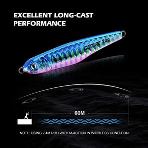 Micro Sinking Metal Spoon Jigging Hard Bait Casting Trolling Lures for Saltwater Freshwater - GOTURE