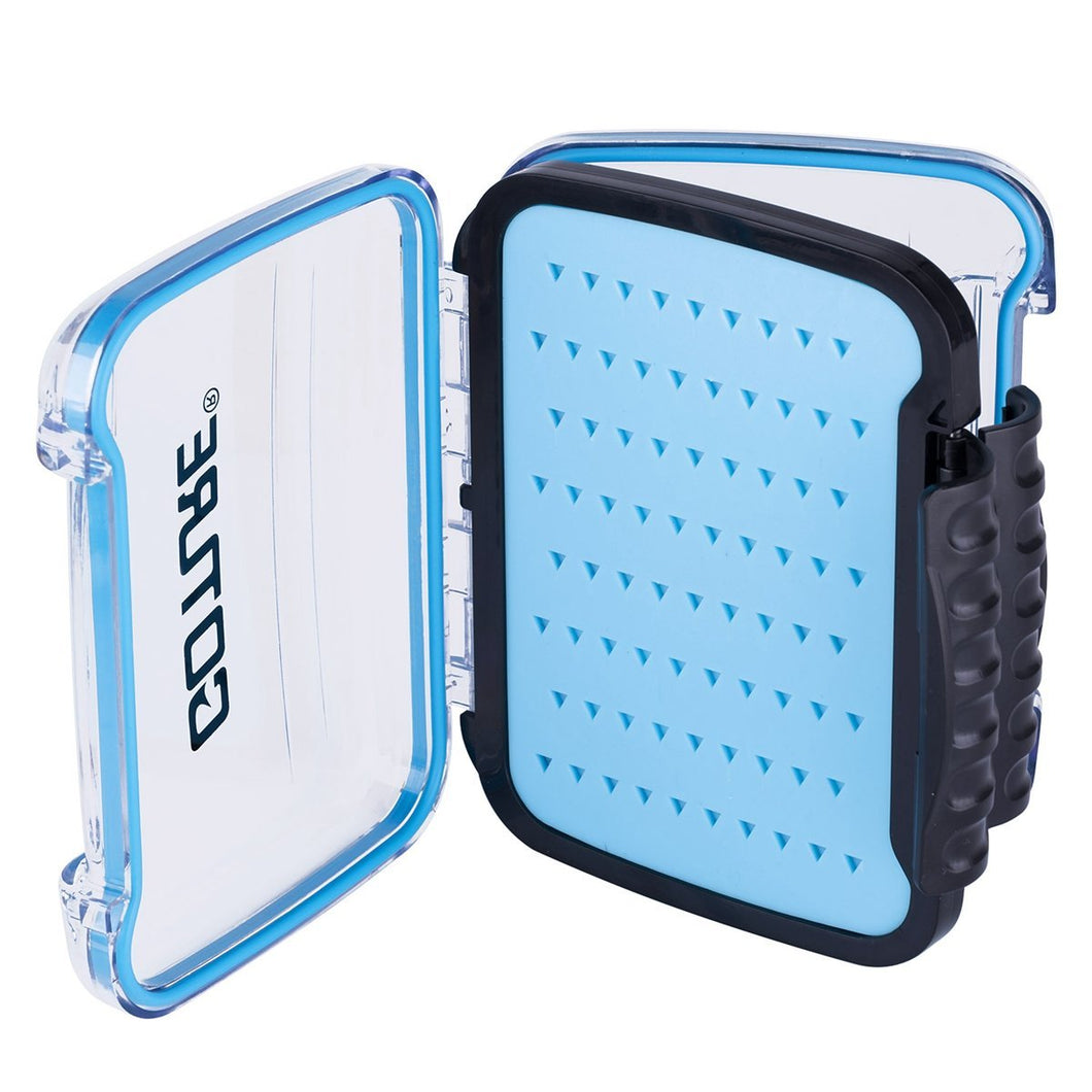 Portable Plastic Fly Fishing Tackle Box, Silicone/Plastic Foam - GOTURE