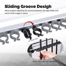Load image into Gallery viewer, Portable Ultralight Aluminum Alloy Fishing Rod Rack for All Type Fishing Pole, Hold Up to 24 Rods - GOTURE